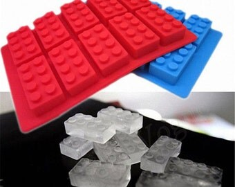 LHS Silicone Building Bricks Tray for Candy, Jelly & Ice Cubes Mold for Lego Lovers