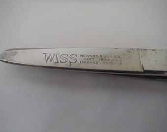 1970's Wiss Pinking Shears-Useable-Great shape-Vintage-Sewing-Crafts