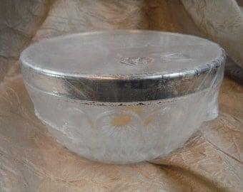 Vintage Unopened Crystal Leonard Italy Silver Rim - Antique, Retro, Vintage, Decorum, Usable