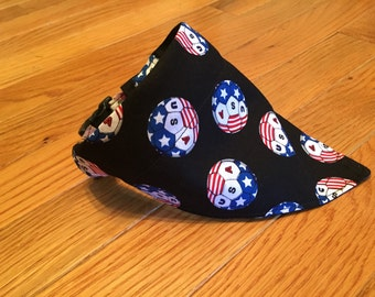 dog pet bandana - USA soccer patriotic - slip on collar accessory