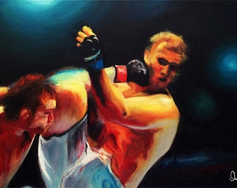 MMA original oil painting