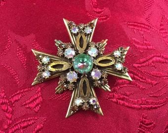 Florenza Maltese Cross Brooch