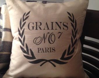 Grains Paris Pillow Cover