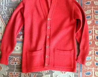 50s Red Cardigan