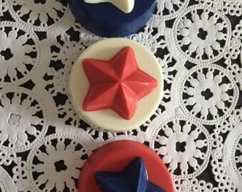 STAR Chocolate Covered Oreos(12 qty) - Stars/Party Favors/STAR Party/Star Favors/Children's Party/Patriotic Favors/Chocolate Covered Oreos