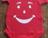 Kool Aid Inspired Onesie or Toddler Tee Available in Red Orange Green or Purple, Unisex Baby Onesies, Unisex Baby Shower Gift, Kids Clothing
