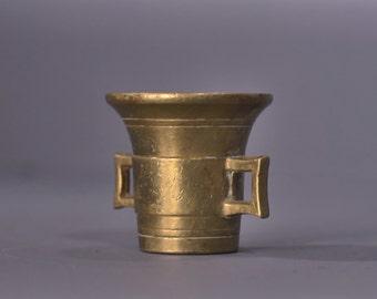 Antique Brass Mortar - A00049