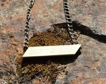 Brass Parallelogram Necklace