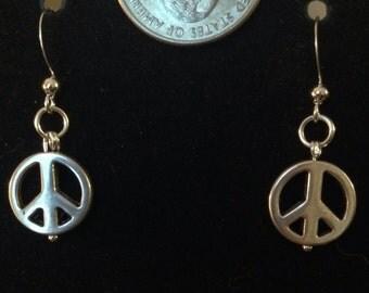 Silver Peace Earrings