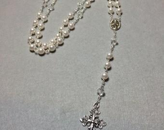 Swaroski Pearl Rosary