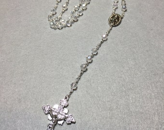 Faceted Crystal Rosary