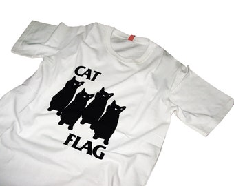 Cat Flag Tshirt Black Flag style