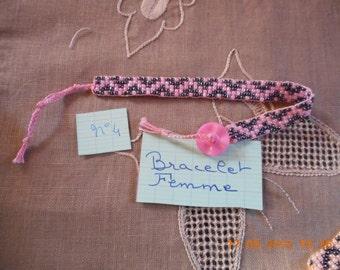 Bracelet beads rockeries with a fancy as clasp button women