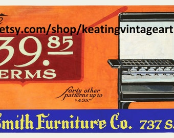 Birch-Smith Estate Gas Range Circa 1925 Vintage Art Glicee Print