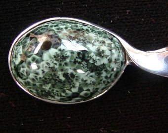 Michigan Greenstone in Sterling Silver Pendant