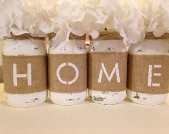Mason Jar Home Sign
