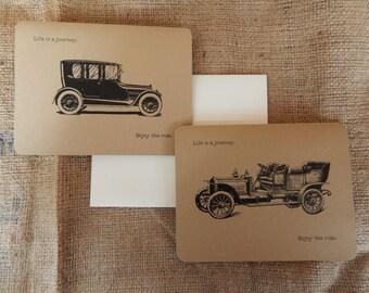 Vintage Cars Greeting Card  |  Vintage Cars Notecard  |  Vintage Cars Blank Greeting Cards  |  Customizable