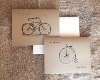 Vintage Bicycle Greeting Card  |  Vintage Bike Card  |  Vintage Note Card  |  Blank Card  |  Customizable