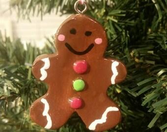 Handpainted Gingerbread Man Ornament