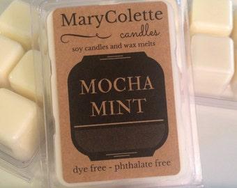 Mocha Mint Soy Wax Melt   Soy Wax Melt   Mint Chocolate Scent   Scented Wax Melts