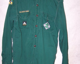 vintage Boy Scouts of Canada uniform shirt,old Scout uniform
