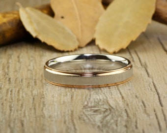 Promise Rings - Rose Gold Wedding Titanium Rings 4mm