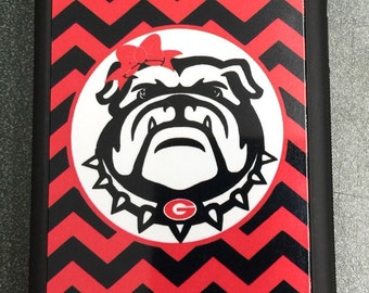 Chevron Georgia bulldogs iPhone case for 6 5 5s 5c 4 4s 6 plus red black chevron UGA chevron iPhone case university of georgia