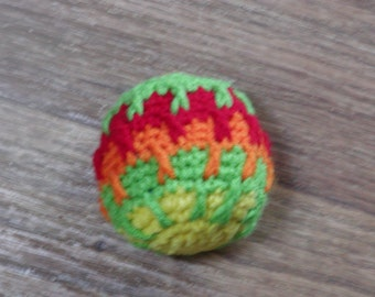 multi color crocheted ball