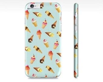 Ice Cream iPhone Case - Cute Ice Cream Phone Case - Pastel Blue iPhone 6 Case - iPhone 5 Case - Samsung Galaxy