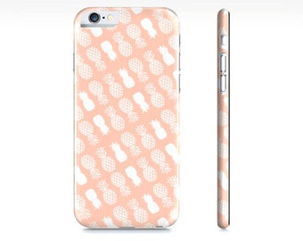 Pineapple Phone Case - Pineapple Pattern iPhone Case - Pineapple iPhone 6 Case - Pastel Peach iPhone 5 Case - Samsung Galaxy - The Mad Case