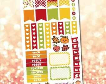 Autumn / Fall / Thanksgiving / Harvest Planner Stickers
