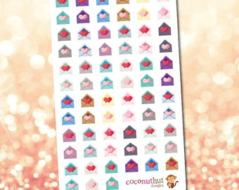 Heart Envelope / Mail Planner Stickers
