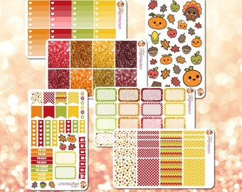 Save! Set of 6 Autumn / Fall / Thanksgiving / Harvest Planner Sticker Sheets