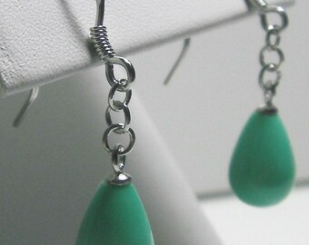 Turquoise Earrings w/ Sterling Silver- 1.9g