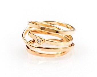 Demi - Gold & Diamond Ring