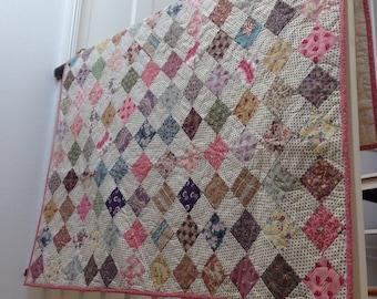 Vintage Checkerboard Quilt