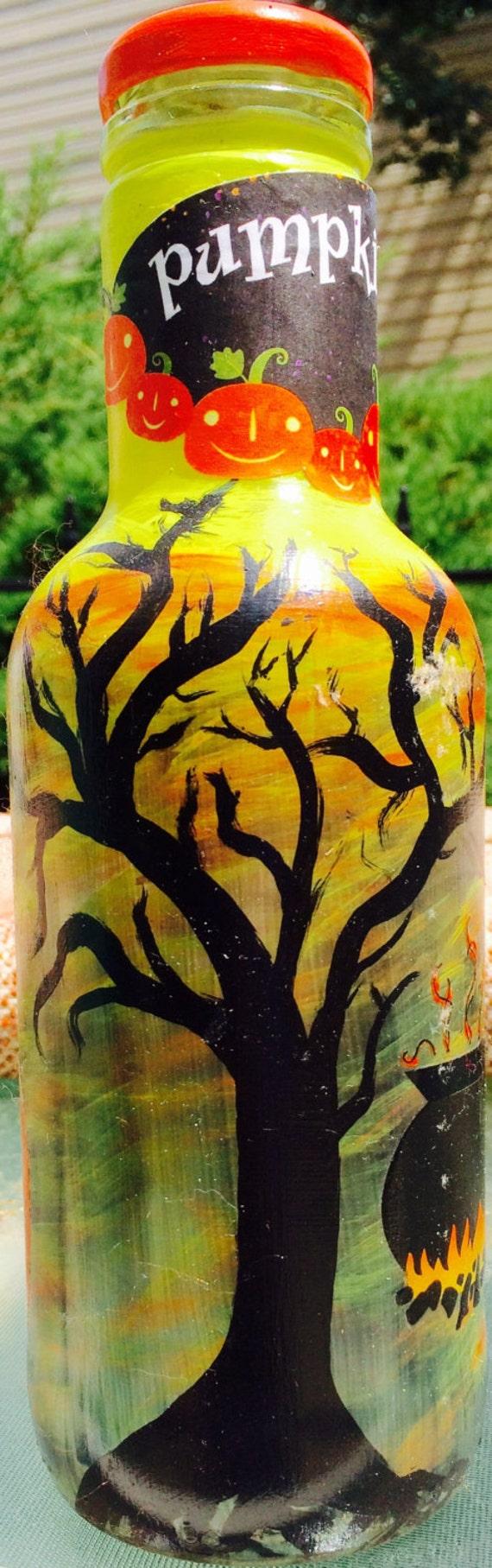 Halloween Decorated Bottle