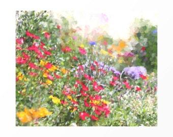 "Wild Flowers, Botanical Print, Signed Fine Art Print, Flower Decor, Botanical Flower Print, Gift for Mom, Floral Decor ""The Wild Flowers"""