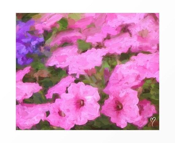 Impressionism Wall Art, Le Mur Rose. Modern Art, Fine Art Print, Home Decor, Living Room, Bedroom Art
