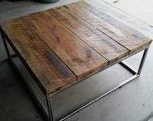 "3'x3'x16"" Industrial Coffee Table"