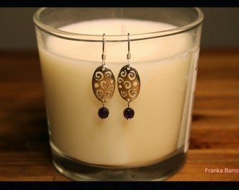 Light purple romance earrings