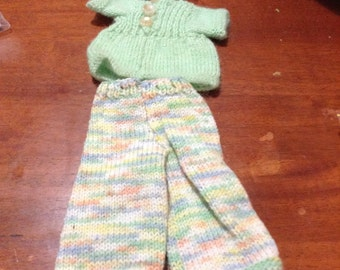 Dolly clothes - Hat, top and pants set