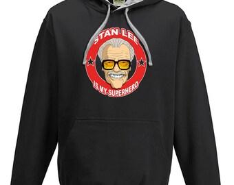 Stan Lee Is My Superhero - Cool Comic Style Men's hoodie / hooded top From FatCuckoo VHM1571