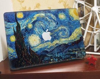 Macbook Decal*~* the starry night van gogh*~* Macbook Pro Stickers/Mac Decal/Mac Sticker for Apple Laptop/Macbook Pro Air/iPad Air Mini