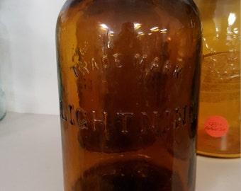 Very dark amber lighting fruitjar rare