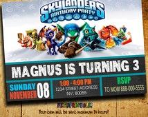Invitations - Skylanders Invitation - Skylanders Birthday - Skylanders Invitation - Skylanders Party - Birthday Invitation
