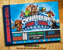Invitations - Skylanders Trap Team Invitation - Trap Team - Skylanders Invitation - Birthday Invitation