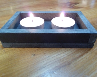 Tea light candle holder - Double