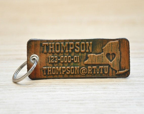 Personalized Luggage Tags Wedding Gift: Embossed Personalized Leather Luggage Tag Leather Tags Gift