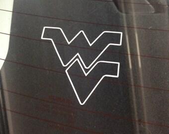 WVU West viginia WV logo car decal
